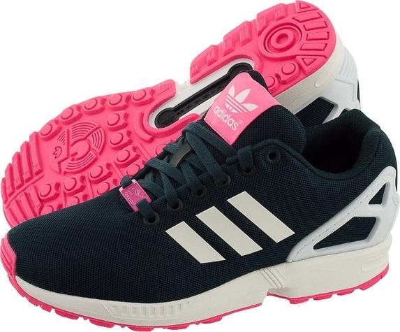 873c6362 adidas zx flux damskie granatowo różowe