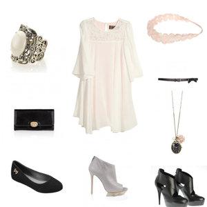 Zestaw z 21 październik 2011, składający się m.in. z Botki, Sukienka H&M, Pierścionek Accessorize.