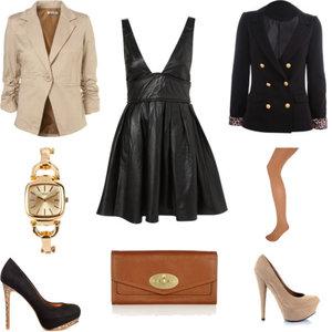 Zestaw z 11 styczeń 2012, składający się m.in. z Sukienka Topshop, Portfel, Marynarka Tally Weijl.