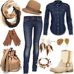 Zestaw z 16 marzec 2012, składający się m.in. z Kolczyki  H&M, Koszula Levis, Jeansy Fishbone.