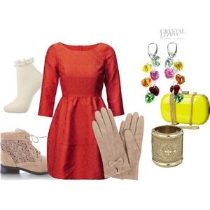 Zestaw z  1 maj 2012, składający się m.in. z Sukienka H&M, Kolczyki, Bransoletka River Island.