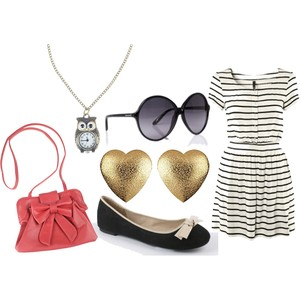 Zestaw z  6 maj 2012, składający się m.in. z Kolczyki  River Island, Torebka Troll, Sukienka H&M.