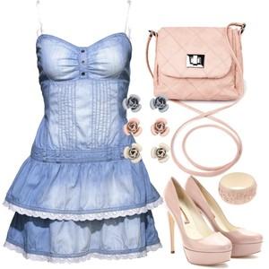 Zestaw z 15 czerwiec 2012, składający się m.in. z Sukienka New Yorker, Kolczyki  Accessorize, Biżuteria Parfois.