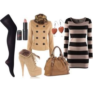 Zestaw z  2 listopad 2012, składający się m.in. z Sukienka H&M, Botki, Kolczyki  YES.