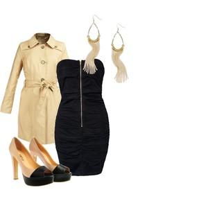 Zestaw z  3 listopad 2012, składający się m.in. z Kolczyki  Cubus, Sukienka Dry Lake, Szpilki  Simple.