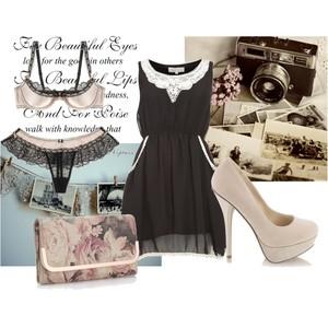 Zestaw z 28 listopad 2012, składający się m.in. z Marks & Spencer, Sukienka NEW LOOK, Szpilki  DeeZee.
