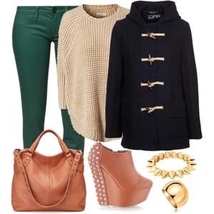Zestaw z  1 lutego 2013, składający się m.in. z Sweter Pepe Jeans, Pierścionek W.KRUK, Jeansy Calvin Klein Jeans.