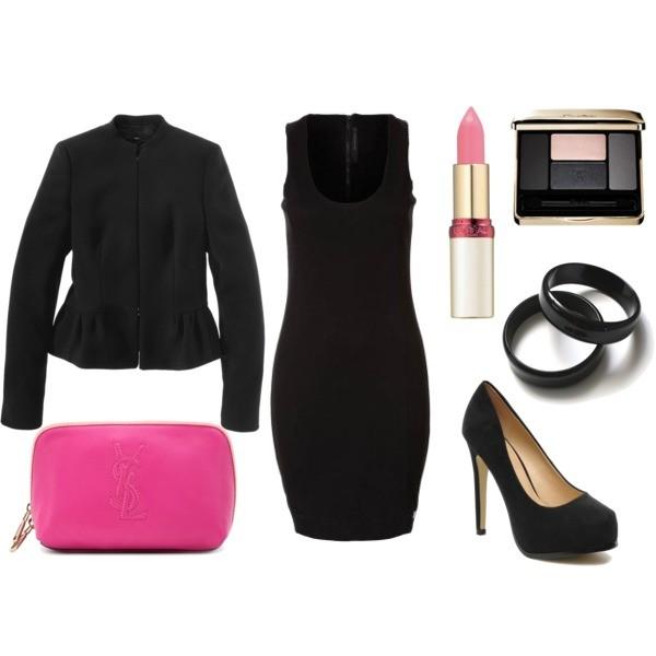 Zestaw z 15 marzec 2013, składający się m.in. z Bransoletka Jubileo.pl, Marynarka Hugo Boss, Sukienka Calvin Klein Jeans.