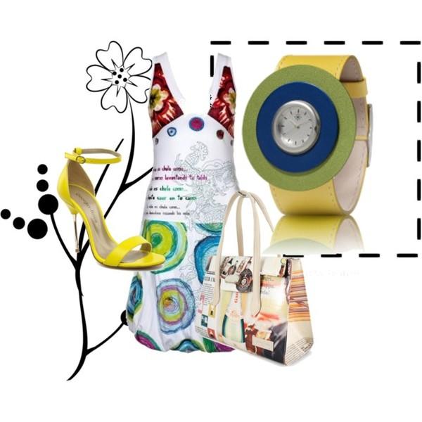Zestaw z 15 marzec 2013, składający się m.in. z Zegarek Dejavu, Sukienka Desigual.