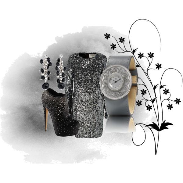 Zestaw z 15 marzec 2013, składający się m.in. z Sukienka In Wear, Zegarek Dejavu, Akcesoria La Redoute.
