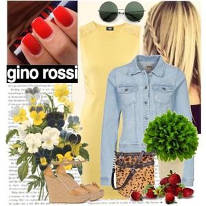 Zestaw z 22 marzec 2013, składający się m.in. z Kurtka Only, Sukienka H&M, Sandały Gino Rossi.