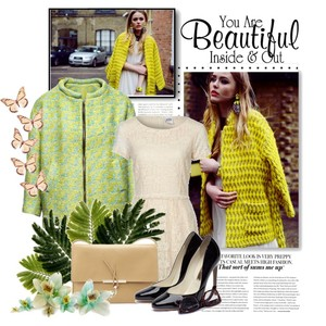 Zestaw z  5 kwiecień 2013, składający się m.in. z Kopertówka Nucelle, Sukienka Vero Moda, Kurtka H&M.