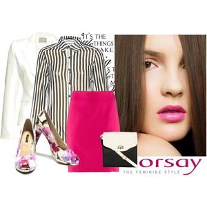 Zestaw z 13 kwiecień 2013, składający się m.in. z Bluzka Orsay, Torebka Orsay, Spódnica H&M.
