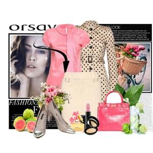 Zestaw z 15 kwiecień 2013, składający się m.in. z Buty Orsay, Bluzka Orsay, Płaszcz Orsay.