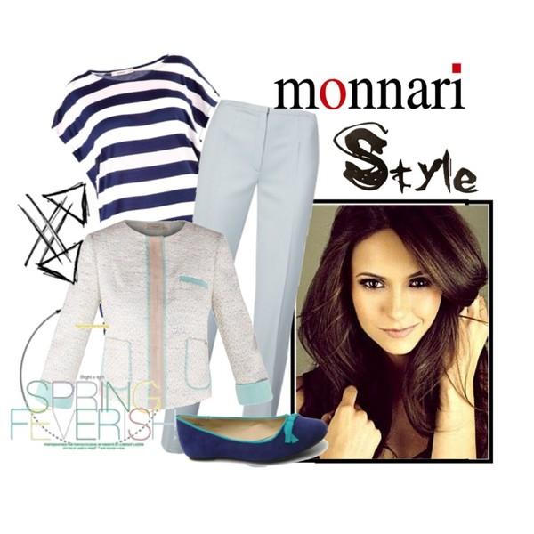 Zestaw z 19 kwiecień 2013, składający się m.in. z Spodnie Monnari, Baleriny Spot On, T-shirt Monnari.