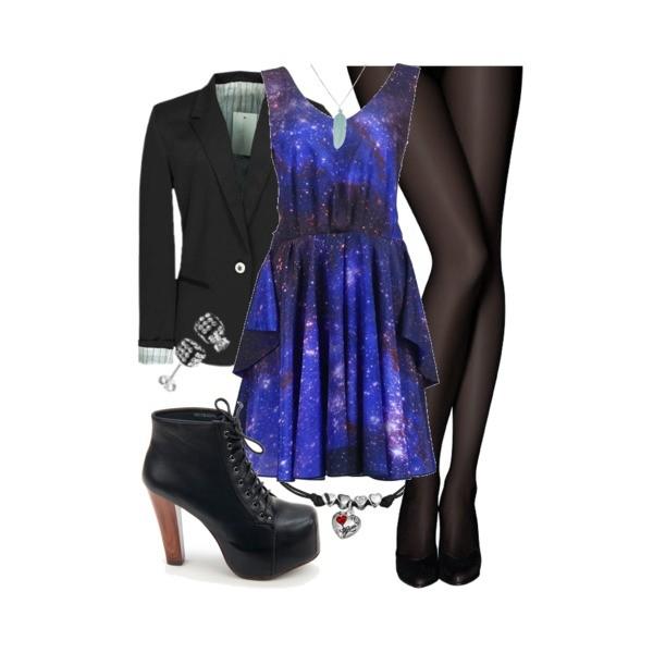 Zestaw z 28 maj 2013, składający się m.in. z Kolczyki  Modern Silver, Sukienka Romwe, Biżuteria Guess.