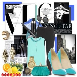 Zestaw z 28 lipiec 2013, składający się m.in. z Buty Christian Louboutin, Spodnie Miu miu, Biżuteria Mohito.