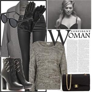 Zestaw z 16 listopad 2013, składający się m.in. z Torebka Chanel Vintage, Sweter LTB, Jeansy by Ti Mo.