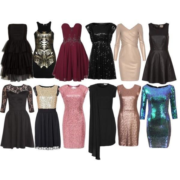 Zestaw z 18 grudzień 2013, składający się m.in. z Sukienka Tfnc, Sukienka Even&Odd, Sukienka Paint it Red.
