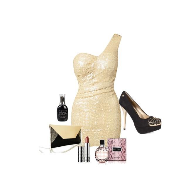 Zestaw z 29 grudzień 2013, składający się m.in. z Perfumy Jimmy Choo, Produkt do pielęgnacji Douglas, Torebka Pracownia Pansy.