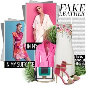 Zestaw z  9 kwiecień 2014, składający się m.in. z Sukienka Joules, Sandały Merg, Marynarka DKNY.