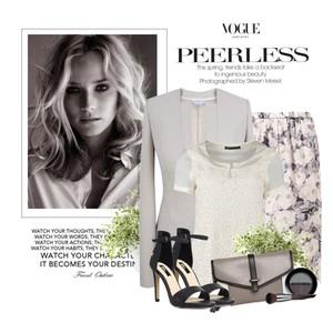 Zestaw z  5 czerwiec 2014, składający się m.in. z Bluzka Expresso, Spódnica American Vintage, Puder Make Up For Ever.