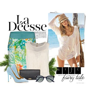 Zestaw z 30 lipiec 2014, składający się m.in. z Okulary przeciwsłoneczne  Brylove, Top Glamorous, Szpilki  DeeZee.