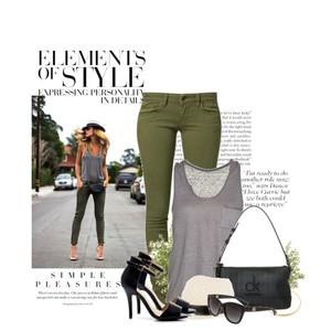 Zestaw z  5 sierpień 2014, składający się m.in. z Torba Calvin Klein Jeans, Szpilki  Vices, Top Joanna Klimas.