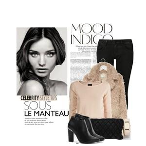 Zestaw z  2 październik 2014, składający się m.in. z Botki Merg, Jeansy Calvin Klein Jeans, Sweter Ichi.
