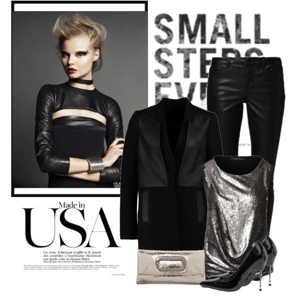Zestaw z 28 grudzień 2014, składający się m.in. z Bluzka Plein Sud, Szpilki  Even&Odd, Płaszcz Calvin Klein Jeans.