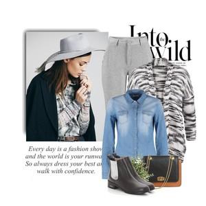 Zestaw z 28 styczeń, składający się m.in. z Torebka miejska LAURA CLEMENT, Spodnie sportowe bonprix, Bluzka Jacqueline de Yong.