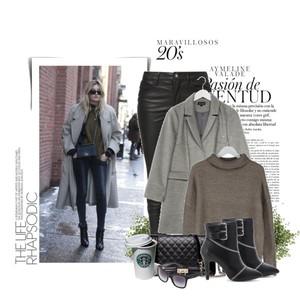 Zestaw z 19 luty, składający się m.in. z Płaszcz Topshop, Sweter SET, Okulary przeciwsłoneczne  Dolce&Gabbana.