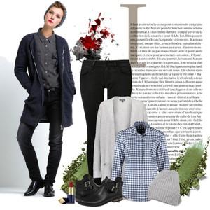 Zestaw z 17 marzec, składający się m.in. z Płaszcz Le temps des cerises, Koszula Gant, Jeansy Calvin Klein Jeans.