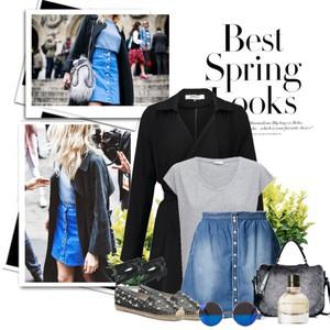 Zestaw z 11 kwiecień, składający się m.in. z Spódnica MKT, Perfumy Bottega Veneta, T-shirt JUST PAUL.
