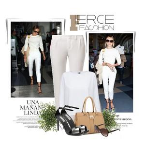 Zestaw z 16 kwiecień, składający się m.in. z Okulary przeciwsłoneczne  Dolce&Gabbana, Spodnie SET, Sandały Steve Madden.