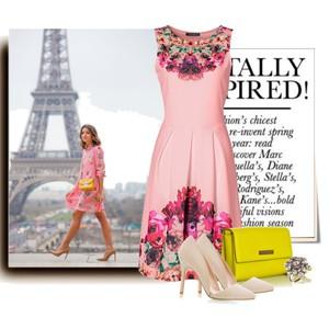 Zestaw z 23 kwiecień, składający się m.in. z Torebka Sukienki M&M, Sukienka bonprix, Pierścionek Konplott.