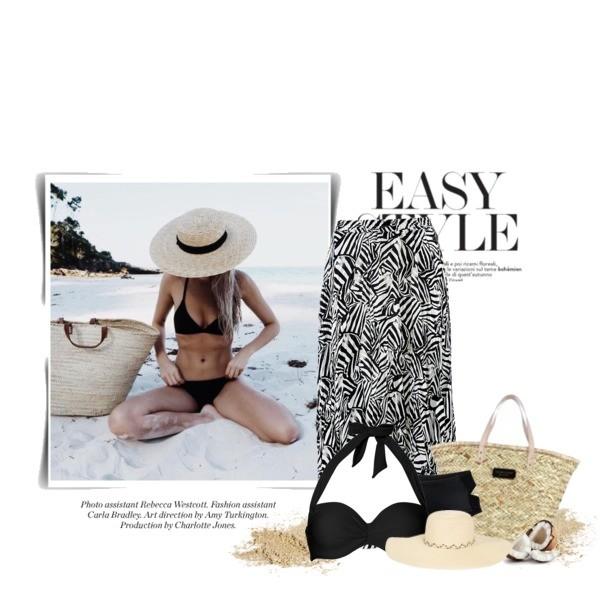stylizacja plażowa z modnymi dodatkami