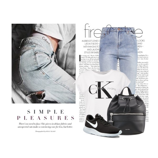 Zestaw z 10 marzec, składający się m.in. z Jeansy New Look Petite, T-shirt Calvin Klein Jeans, Plecak Calvin Klein.