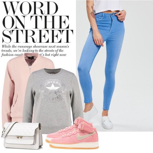 Zestaw z 11 marzec, składający się m.in. z Trampki Nike Sportswear, Bluza Converse, Torebka Nucelle.