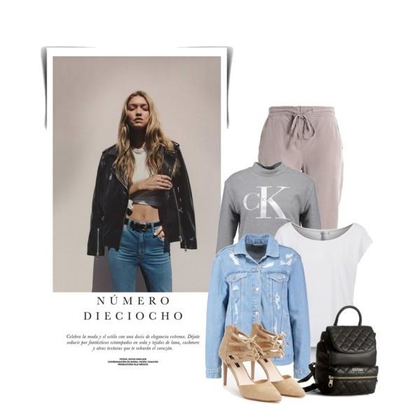 Zestaw z 28 marzec, składający się m.in. z Szpilki  Born2be, Plecak Guess, Bluza Calvin Klein Jeans.