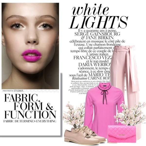 różowa wiosenna stylizacja