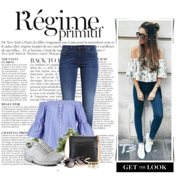 Zestaw z  9 kwiecień, składający się m.in. z Bluzka Abercrombie & Fitch, Okulary damskie Furla, Jeansy Calvin Klein Jeans.
