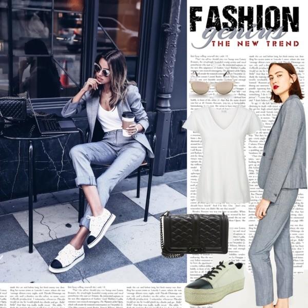 Zestaw z 15 kwiecień, składający się m.in. z Espadryle DKNY, T-shirt bonprix, Okulary damskie Sinsay.
