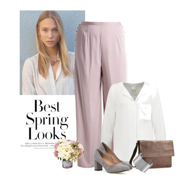 Zestaw z 21 kwiecień, składający się m.in. z Spodnie Missguided Plus, Czółenka  OLEKSY MM, Czółenka  OLEKSY MM.