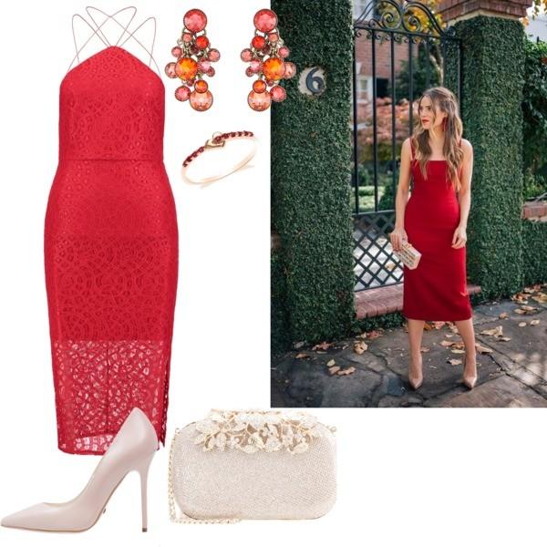 czerwona sukienka na ślub