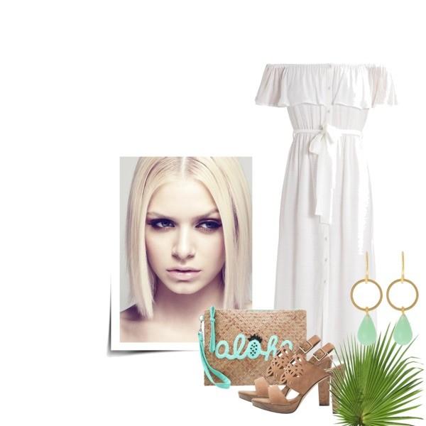 Zestaw z  3 maj, składający się m.in. z Kolczyki  TomShot, Torebka sweet deluxe, Sukienka Bardot.