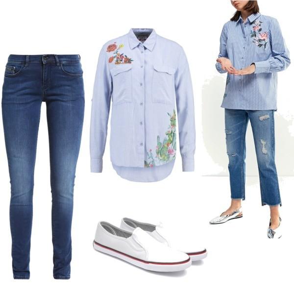Zestaw z 24 maj, składający się m.in. z Trampki AMERICAN CLUB, Jeansy Calvin Klein Jeans, Koszula Desigual.