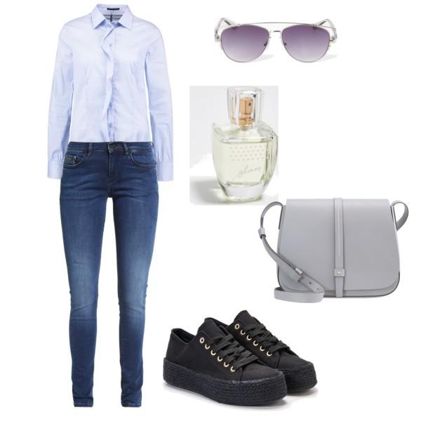 Zestaw z 25 maj, składający się m.in. z Jeansy Calvin Klein Jeans, Koszula Sisley, Perfumy Sinsay.