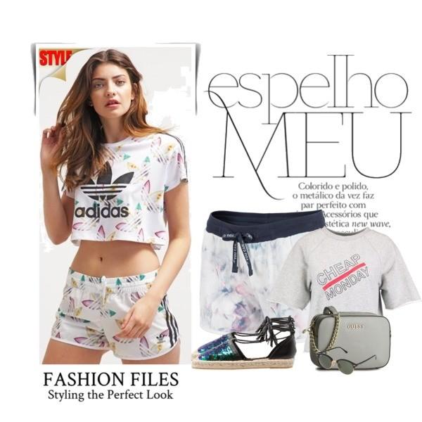 Zestaw z  7 czerwiec, składający się m.in. z Espadryle San Marina, T-shirt Cheap Monday, Torebka Guess.