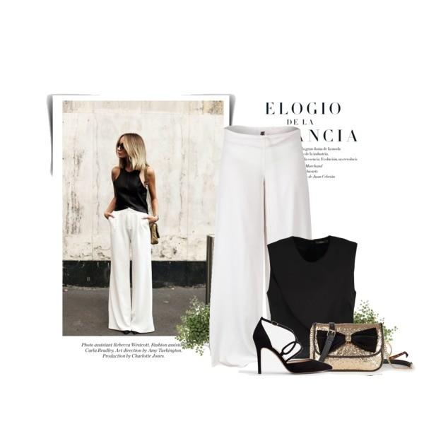 Zestaw z  9 czerwiec, składający się m.in. z Okulary damskie VOGUE Eyewear, Spodnie Monica Nera, Bluzka Kiomi.